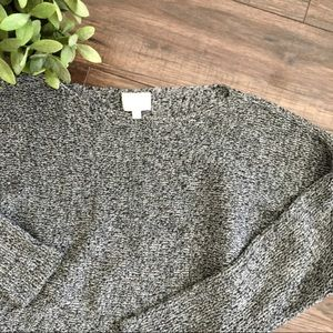 Wilfred Black and White Knit Semi Cropped Sweater